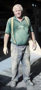 Joe Weston Webb powder coated in gold